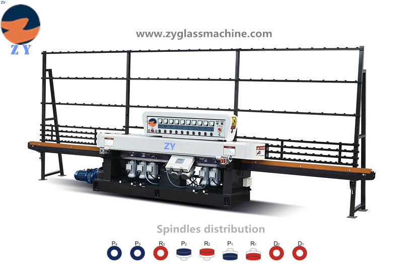 ZYE9325 Glass straight line edging machine(9 Spindles)