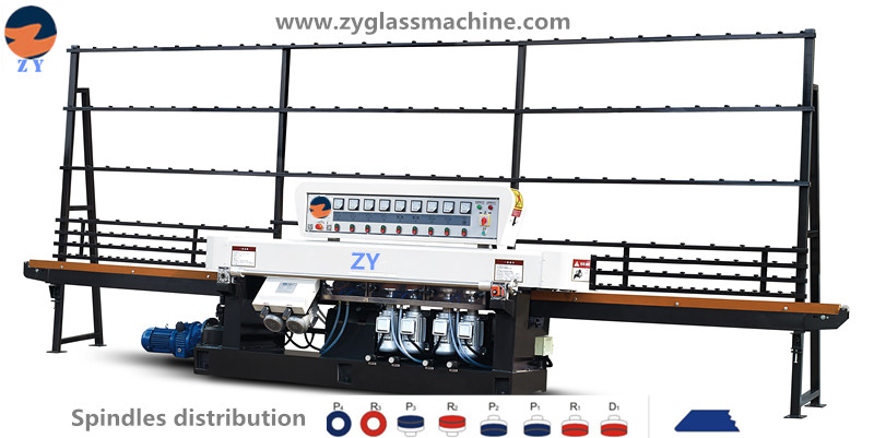 ZYE8325 glass straight line edging  machine(8 spindles)