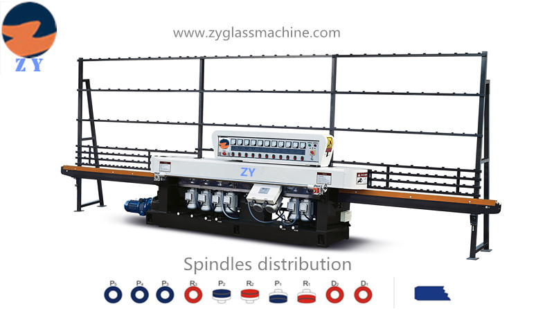ZYE10325 Glass Straight line edging machine(10 spindles)