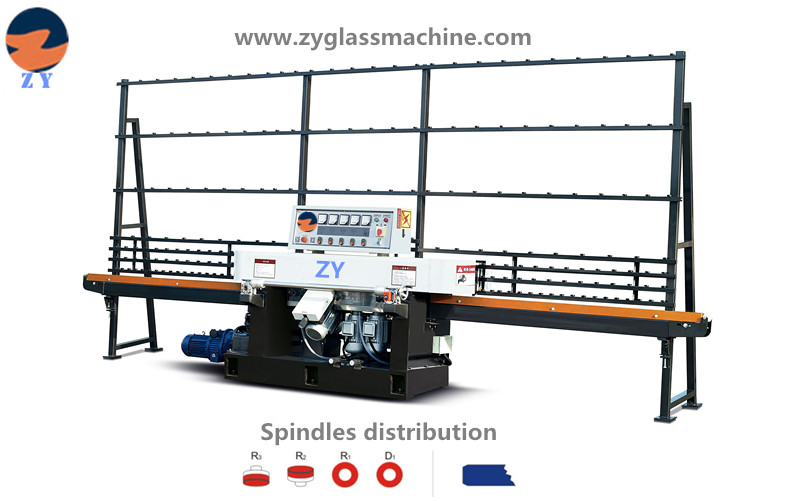 ZYE4325 glass straight line edging machine(4 spindles)