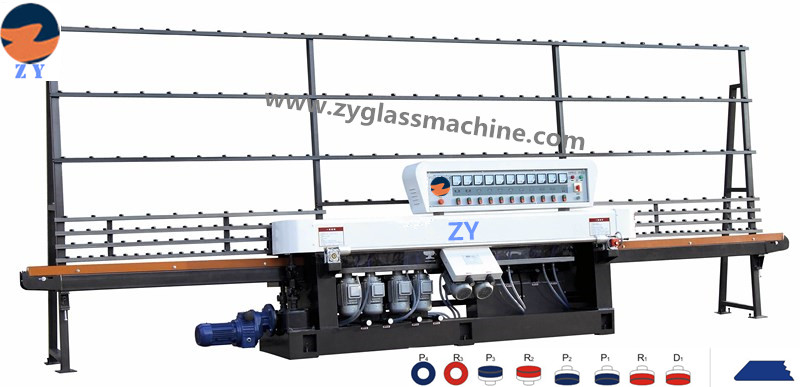 ZYE8325-45° glass straight line edging machine(8 spindles)
