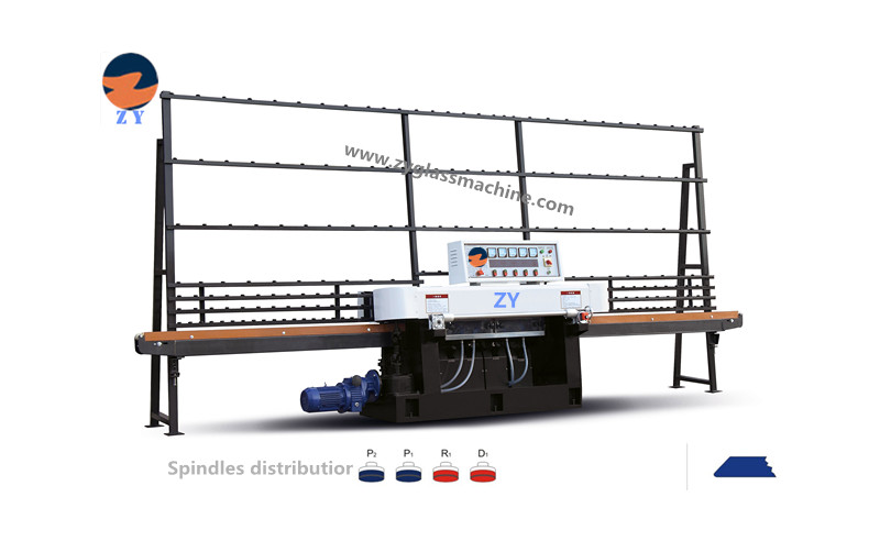 ZYE4325-45°glass straight line edging machine(4 spindles)